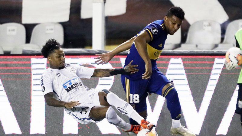Santos derrotó categóricamente a Boca por 3 a 0 y lo dejó afuera de la Copa Libertadores