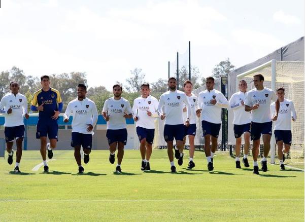 Concentrados de Boca para enfrentar a Argentinos Juniors