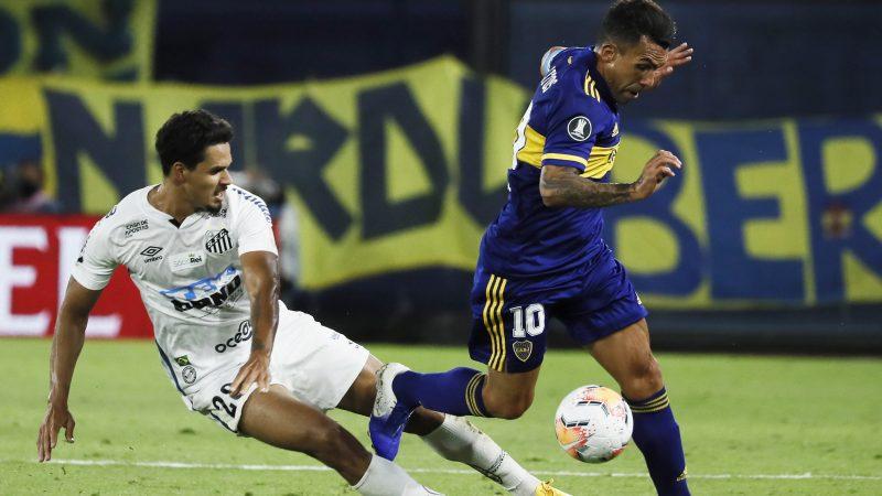 Boca y Santos no se sacaron diferencias en la primera semifinal de la Libertadores